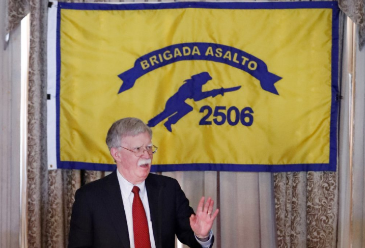 John Bolton spoke about the new sanctions in Miami on the anniversary of the Bay of Pigs invasion