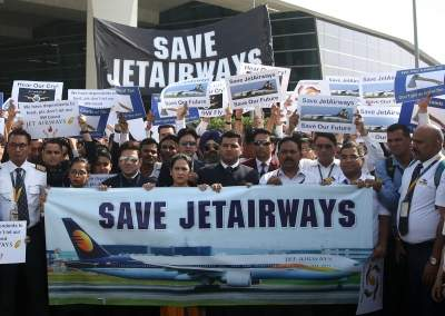 Jet Airways (NSE: JETAIRWAYS) share price dives as management considers operations shutdown