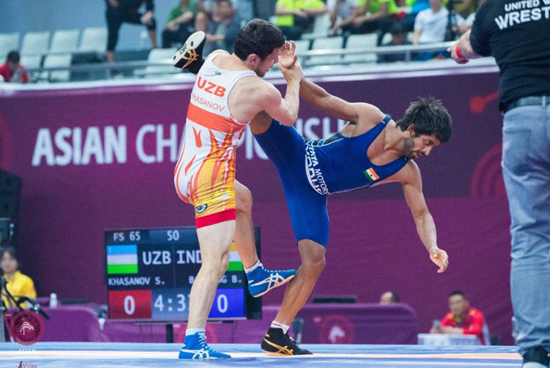 Indian wrestler Bajrang Punia