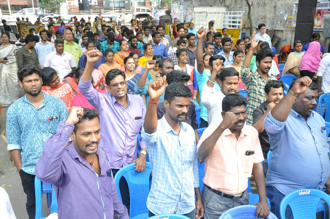 Tamil Nadu E-Sevai Workers Stage Hunger Strike, Demand Pending Salary