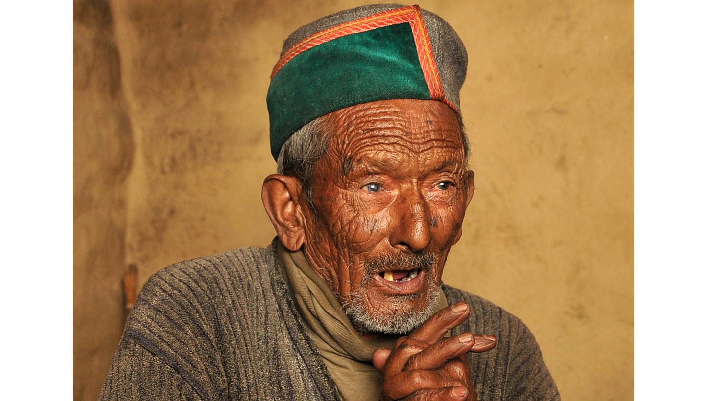 First voter of independent India, Shyam Saran Negi of Kinnaur, Himachal Pradesh.