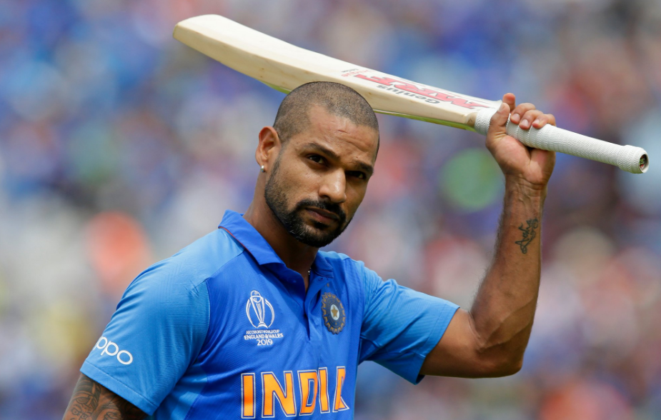 Indian cricket team's Shikhar Dhawan at the ICC World Cup 2019
