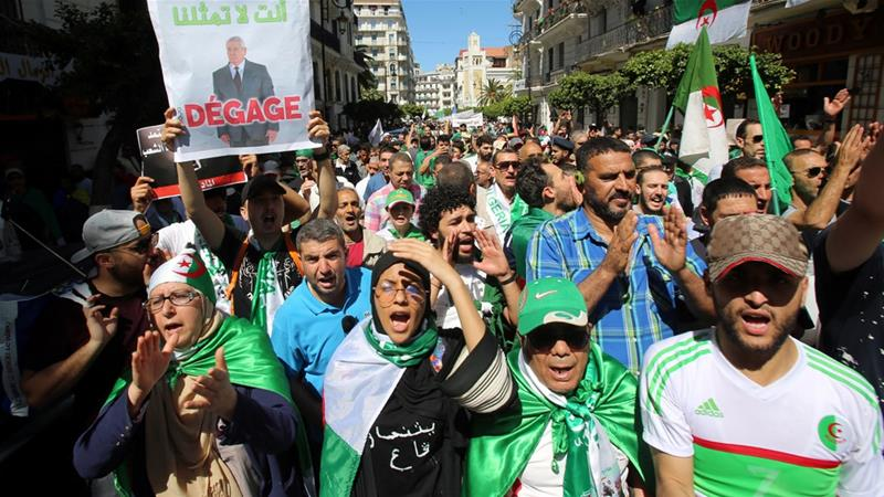 Demonstrators had been calling for elections to be delayed and for Bensalah to step down.