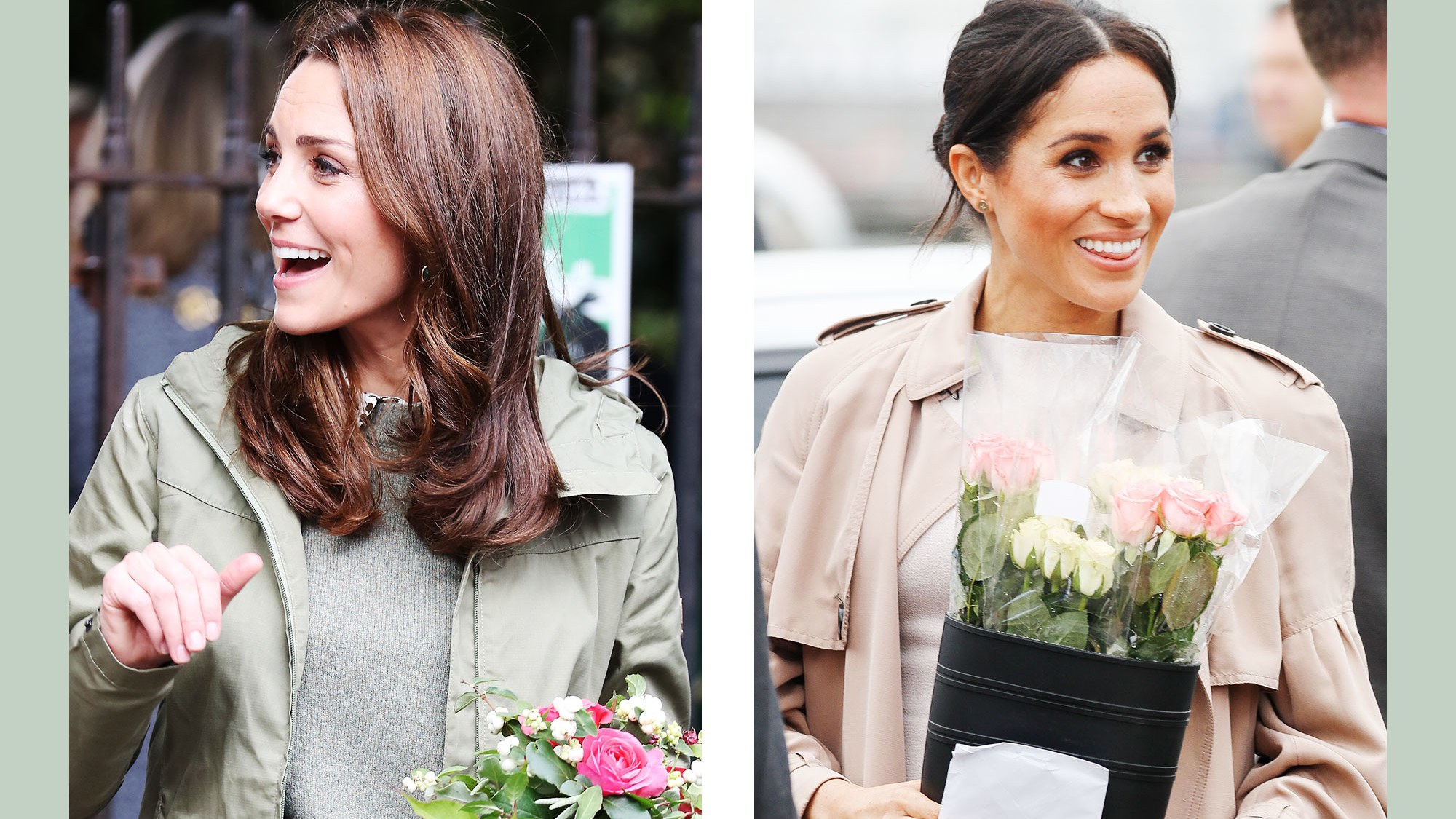 Kate Middleton and Meghan Markel