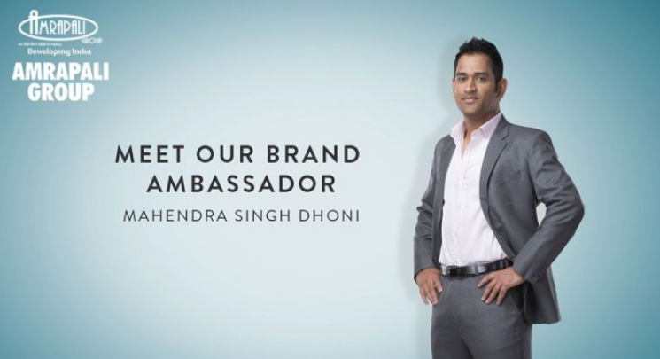 MS Dhoni was a brand ambassador of Amrapali Group till April 2016, when he stepped down after coming under pressure from disgruntled homebuyers.