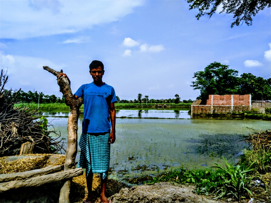 Half-year at Sugar Mill, another half struggling on fields–Sainullah worries for the paddy produce.