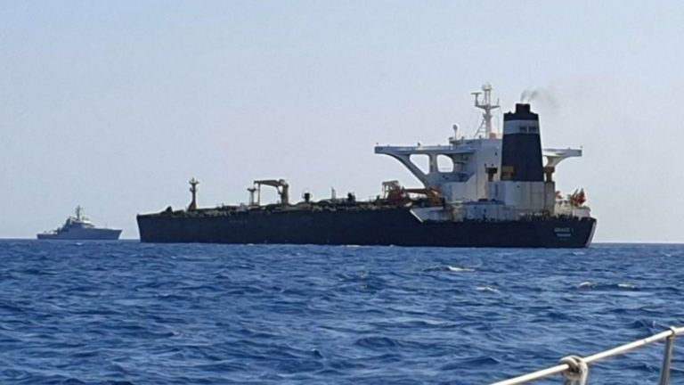 Iranian supertanker Grace 1 seized by British Navy off Gibralter, July 5, 2019