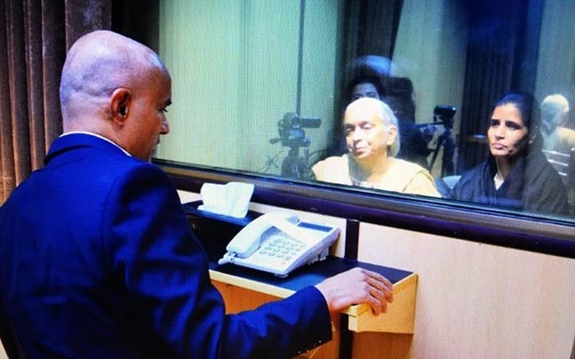 Kulbhushan Jadhav, alleged Indian spy on death row in Pakistan, met his relatives from India, Islamabad, December 24, 2017