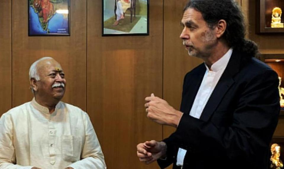 The German Ambassador to India, Walter J Lindner, met RSS chief Mohan Bhagwat at the RSS headquarters in Nagpur