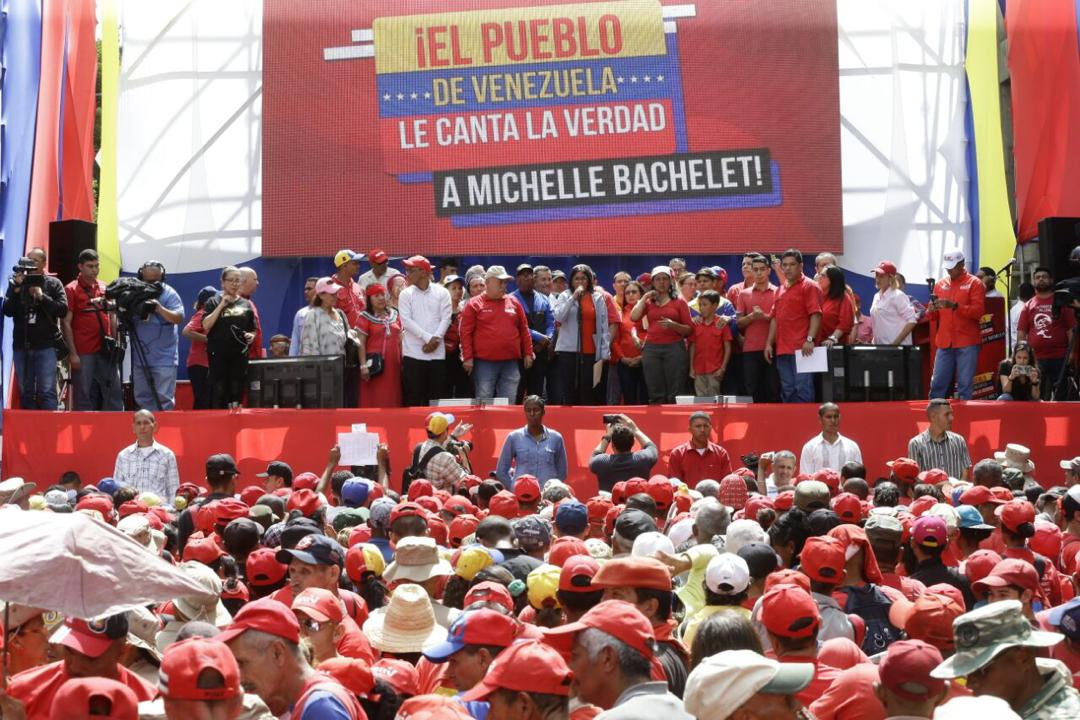 """The people of Venezuela will sing the truth to Michelle Bachelet!!"""