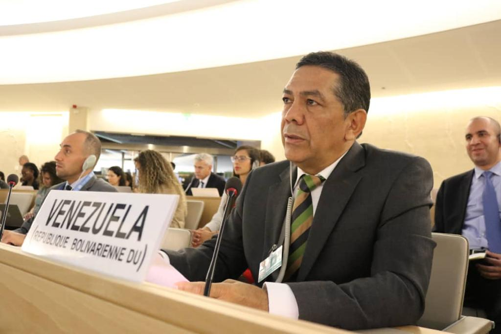 William Castillo, the vice-minister of international communication, participated in the session of the human rights commission in order to defend the truth about Venezuela.