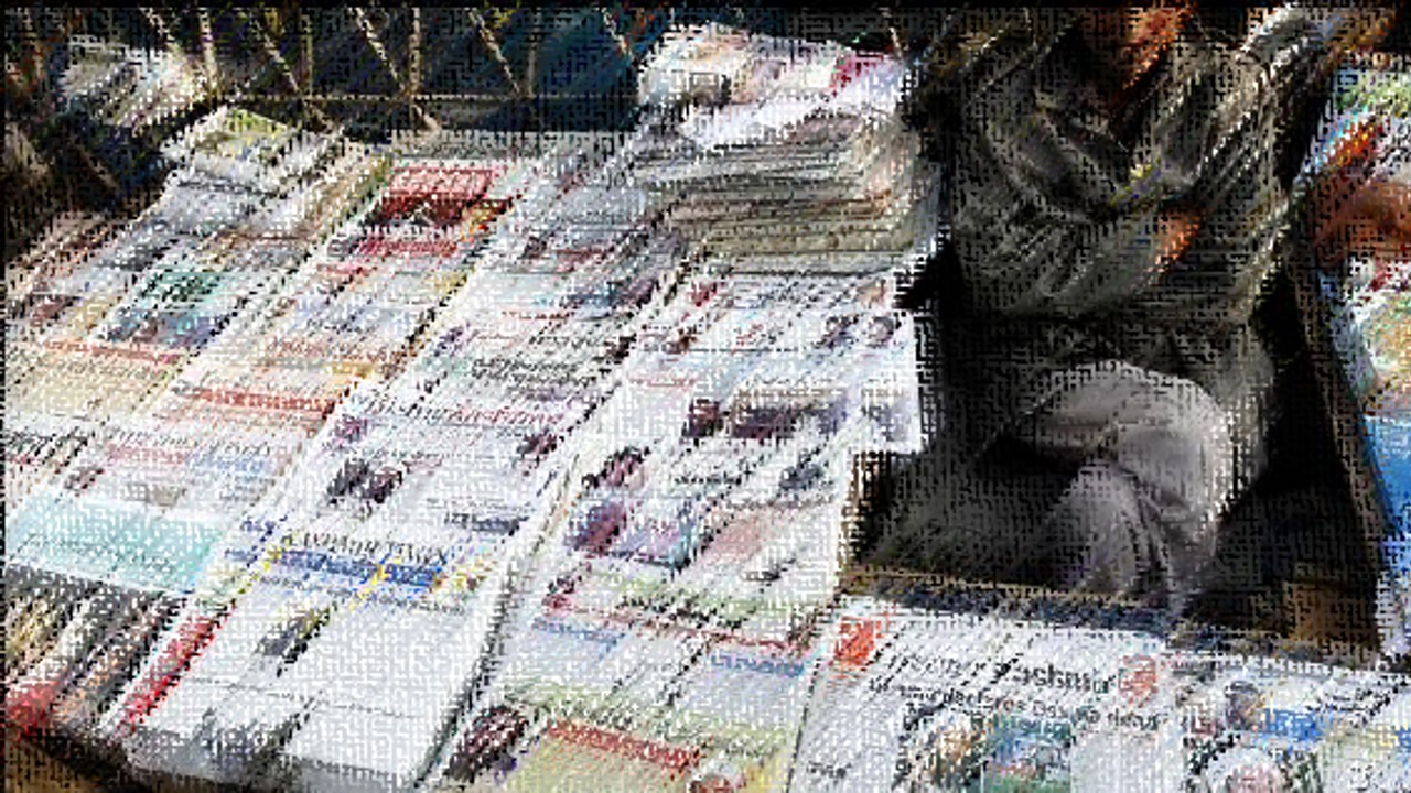 Newspapers in Kashmir Trapped