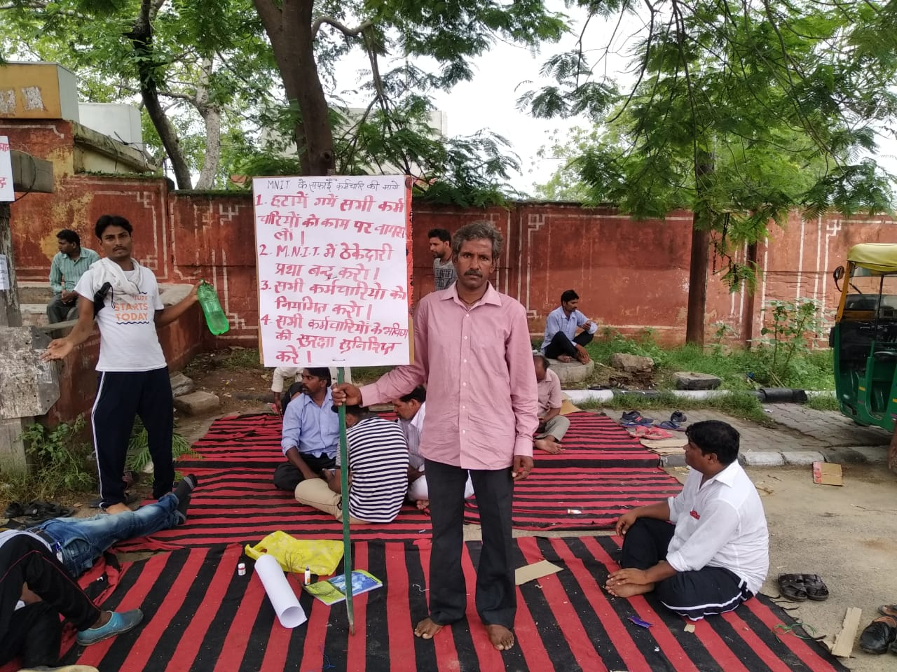 MNIT Jaipur Agrees to Reinstate Contracts After 11-Day Protest by Sanitation Workers