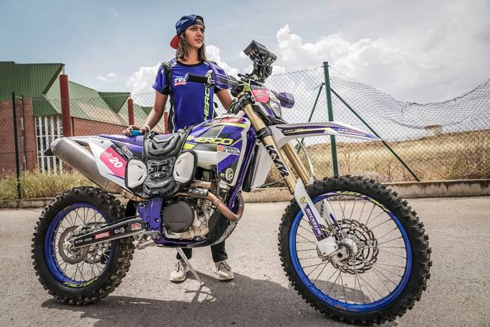 Aishwarya Pissay of TVS Racing, the 2019 FIM Bajas Women's World Cup champion
