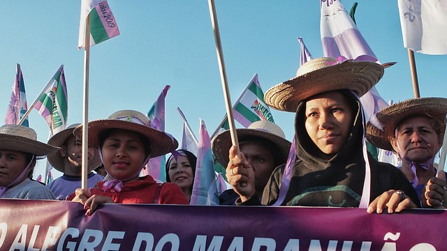 Indigenous Women's March joined the mobilization in Brasília / Andressa Zumpano/CPT
