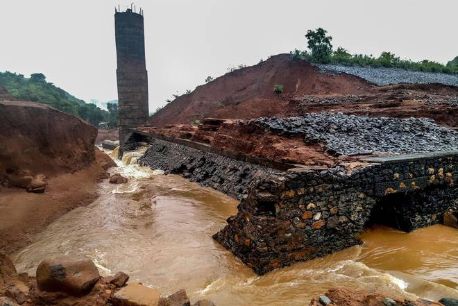 The Tiware dam in Ratnagiri district developed a breach late on Tuesday night after heavy rains