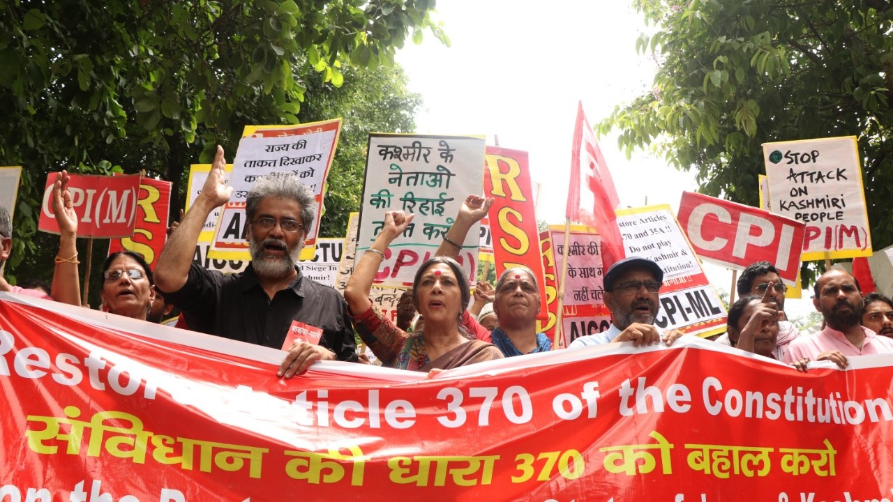 Left Parties Hold Joint Protest