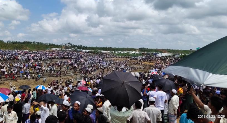 Thousands of Rohingyas Gather in Bangladesh