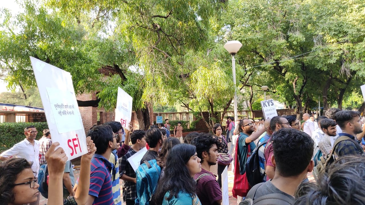 Delhi University Students and Teachers Protest