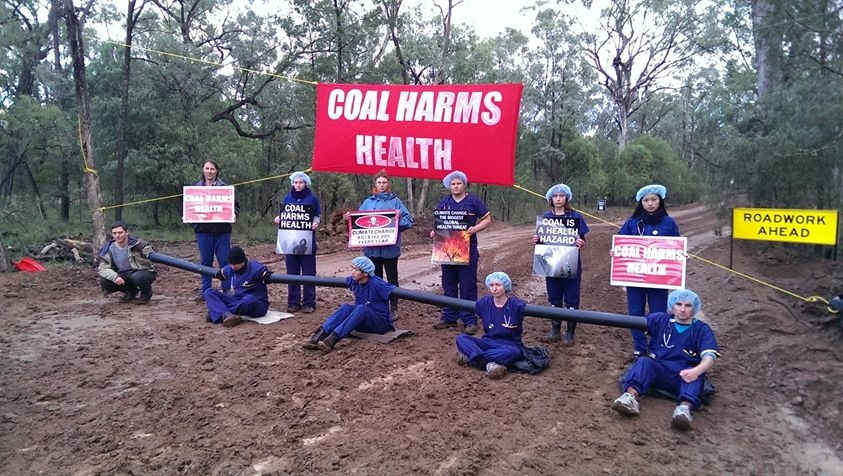 An anti-coal blockade in the Leard Forest, New South Wales. Image from New Internationalist blog.