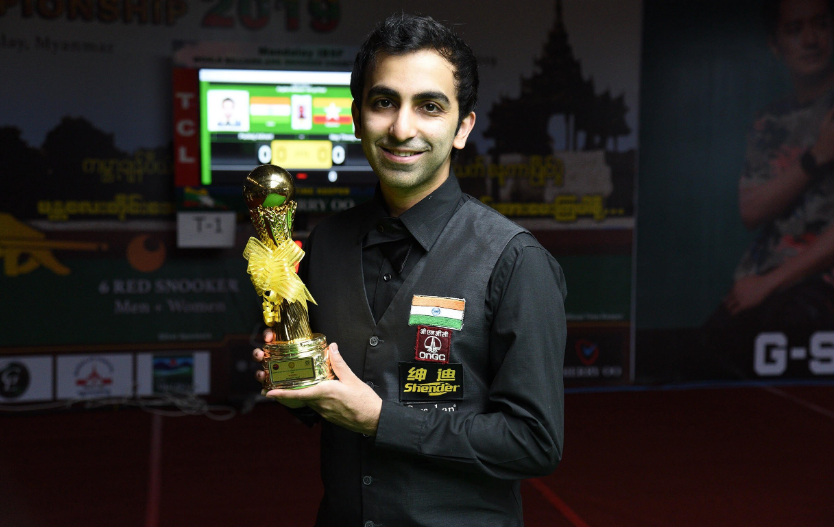 Billiards world champion Pankaj Advani