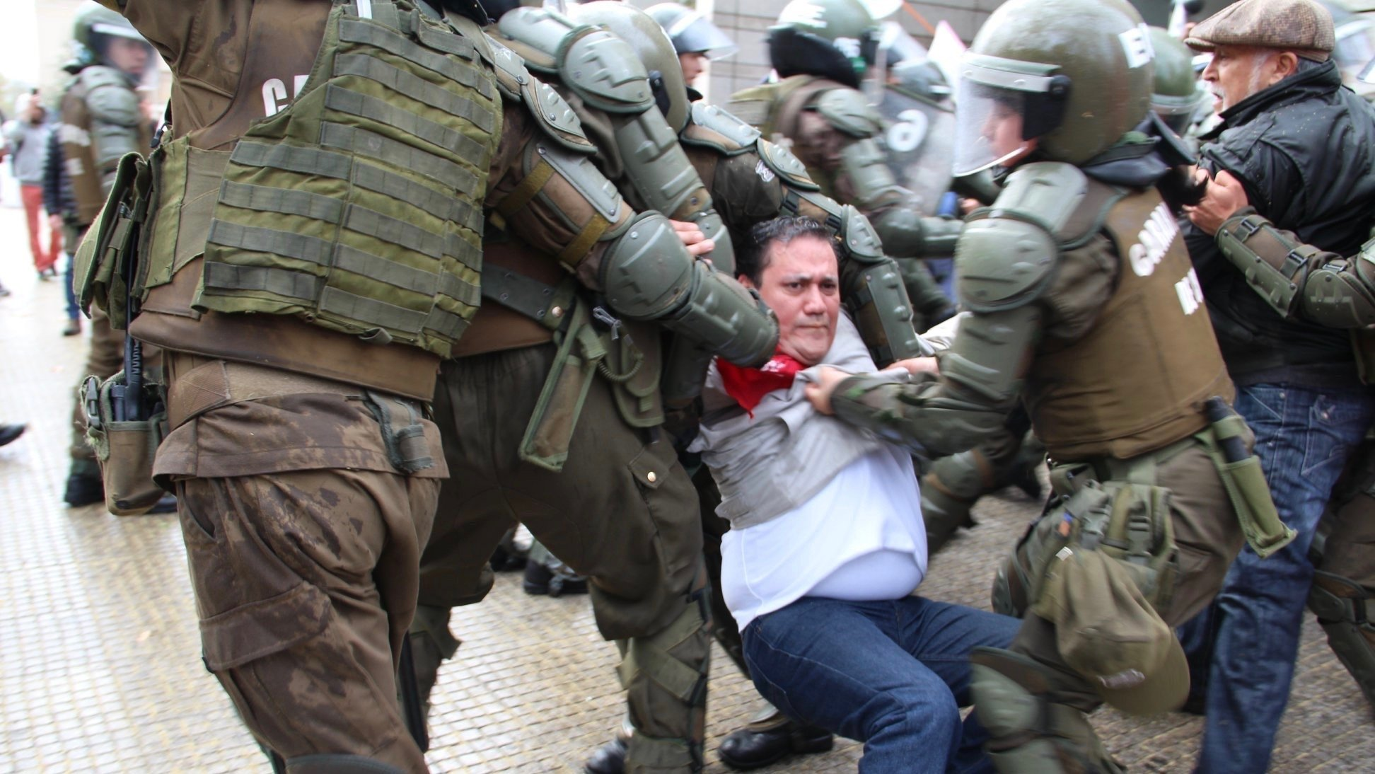 More than 90 people were arrested during the National Protest held in Santiago, Chile on September 5. (Photo: CUT/Facebook)