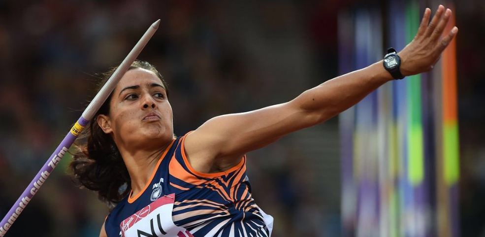 Annu Rani broke her own javelin national record with a throw of 62.43m to earn herself a spot in the finals at the IAAF World Athletics Championships in Doha (Pic: IAAF).