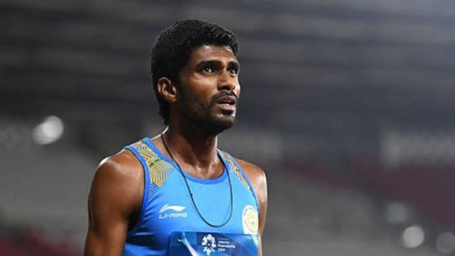 Indian athlete Jinson Johnson at the IAAF World Athletics Championships