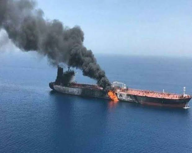 Iran Tanker Hit by Suspected Missile Strikes Near Saudi Port