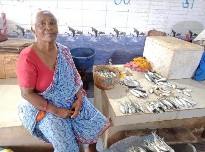 Jayashree, 67, has been selling fish in Malwan market since her childhood.