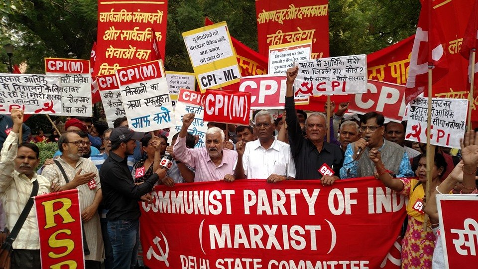 Left Parties Hold All-India Protests Against Economic Crisis