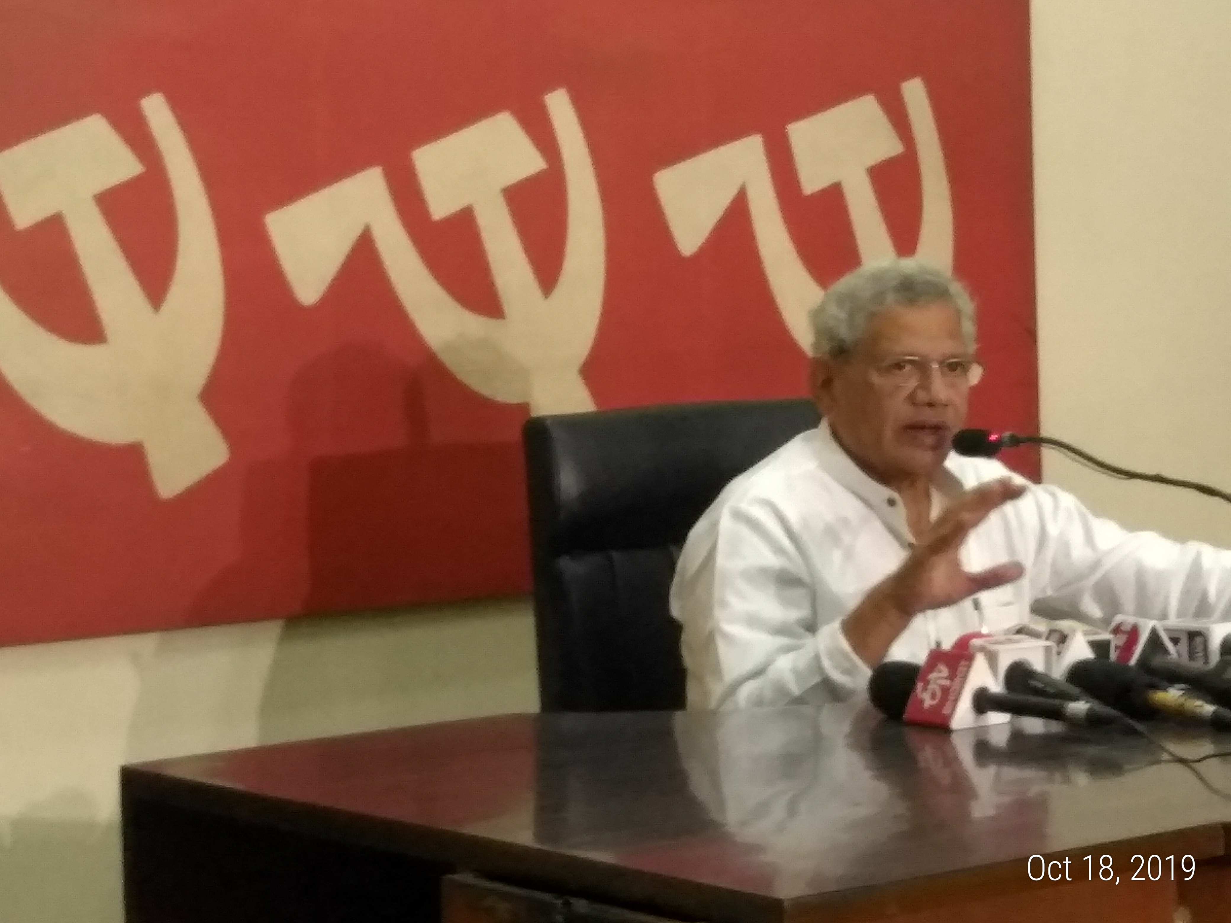 The Fight Now is Between Indian Nationalism and Hindutva Nationalism: Yechury