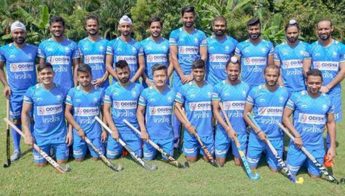 Indian hockey team which qualified for the Tokyo Olympics