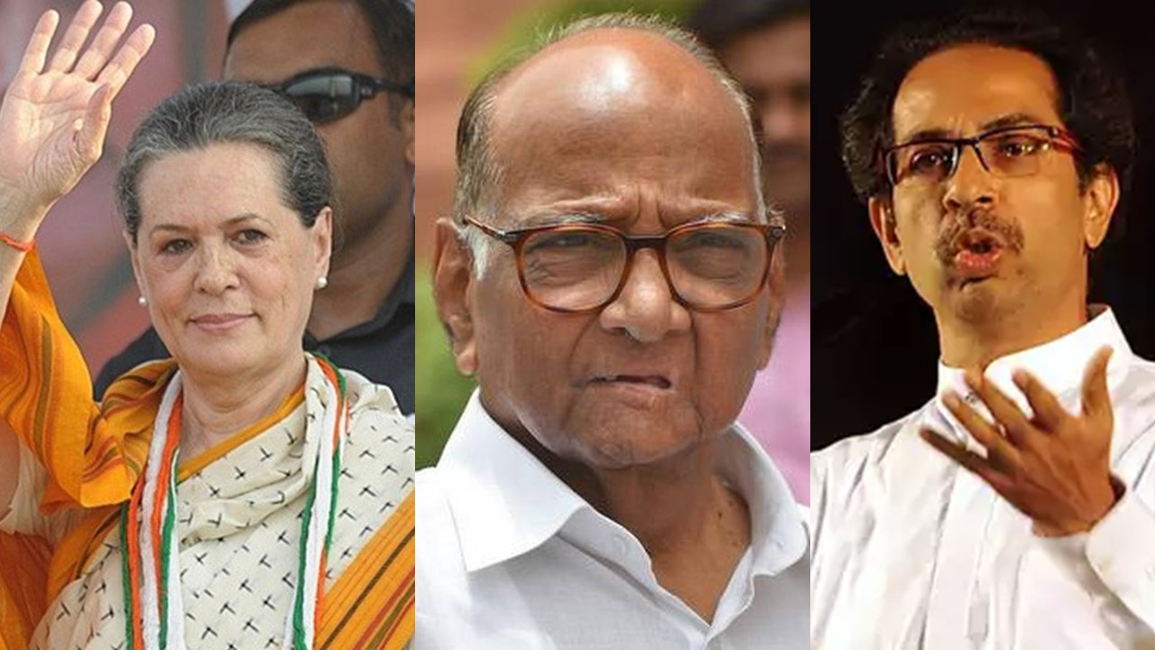 Image result for congress-ncp-shivsena