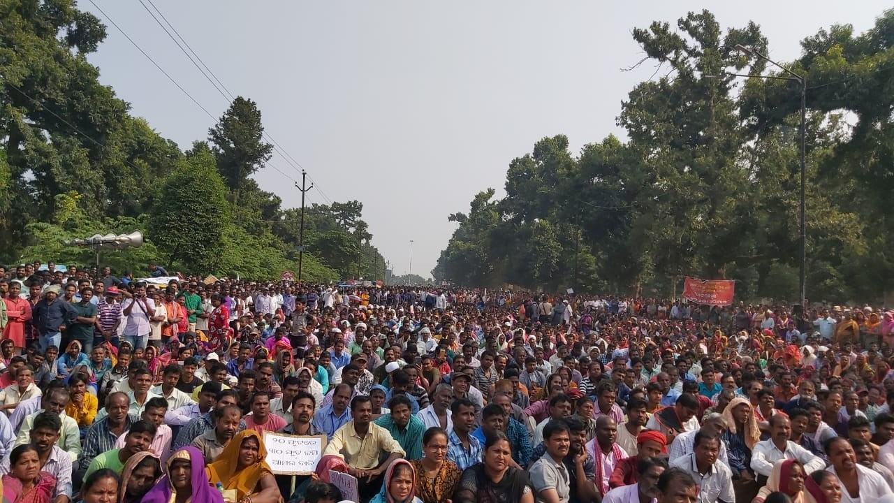 Slum Dwellers Hold Massive March