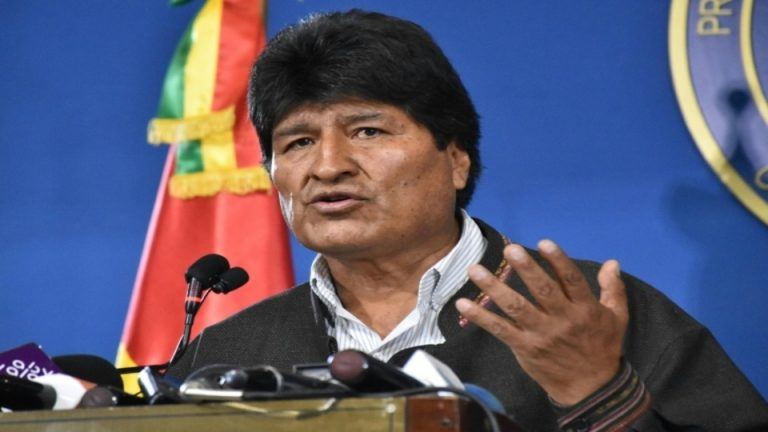 Bolivian president Evo Morales had earlier called for fresh elections.