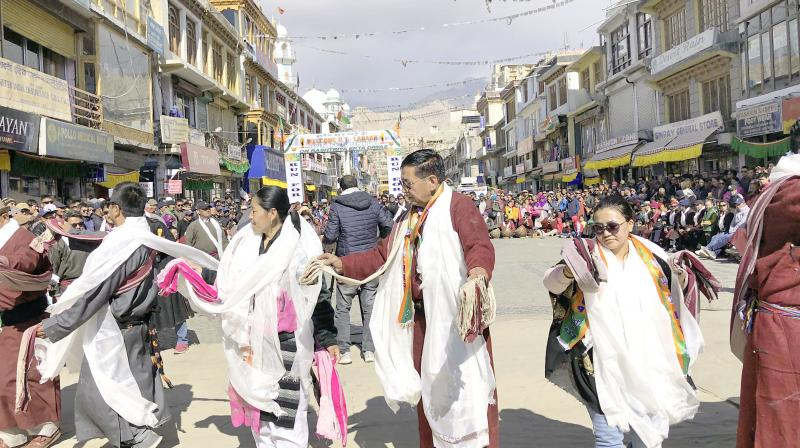 People of Ladakh dance as they celebrate change of status of their region to a Union Territory