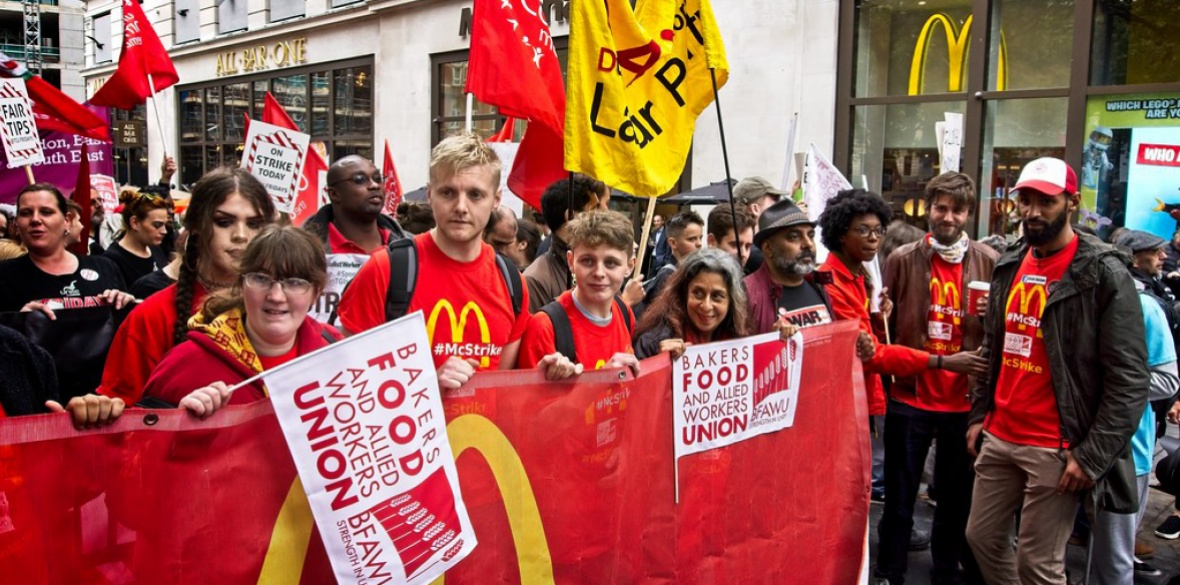 McStrike in London for Wage Hike