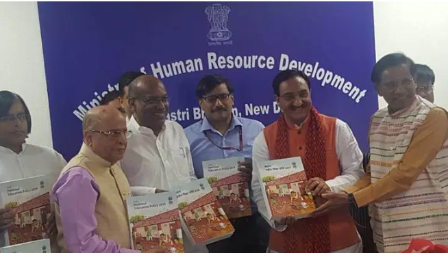 The initial draft of the New Educational Policy 2019 was submitted to HRD Minister Ramesh Pokhriyal Nishank