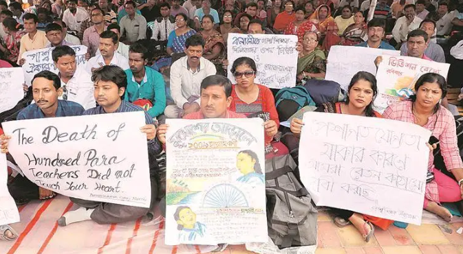 WB Para-Teachers' Protest Enters Day 5, Govt Keeps Mum