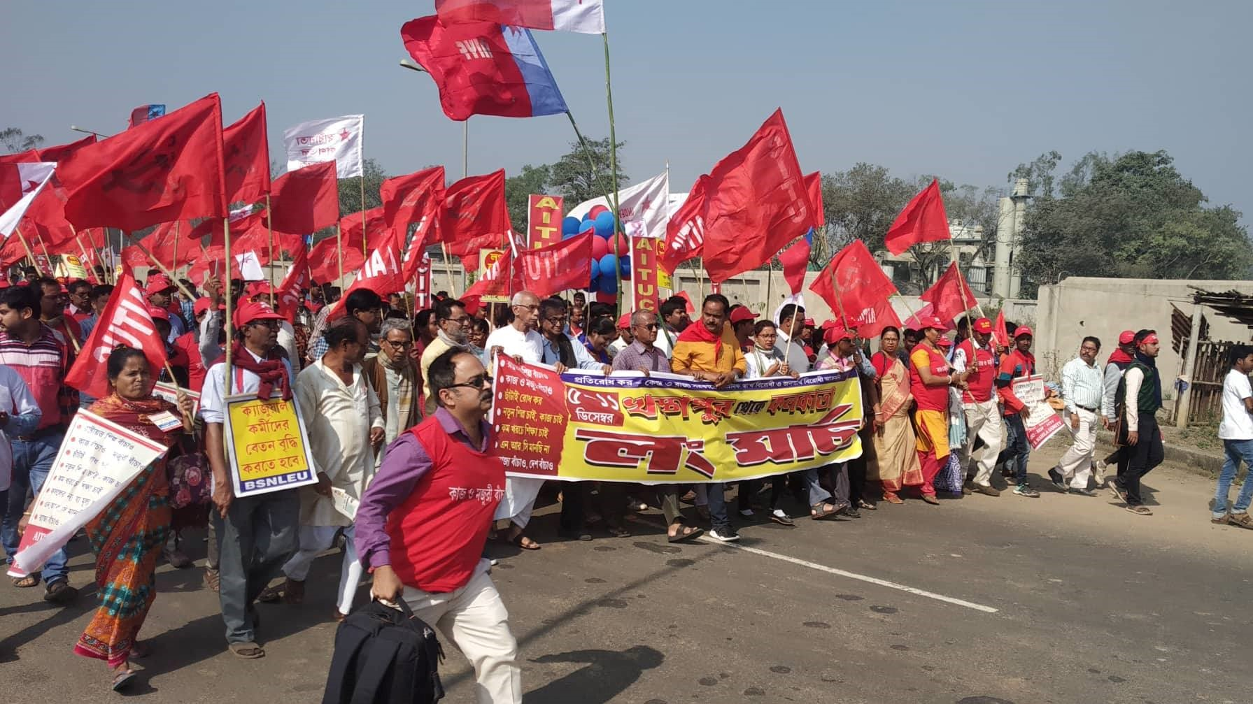 Workers' Long March in Bengal