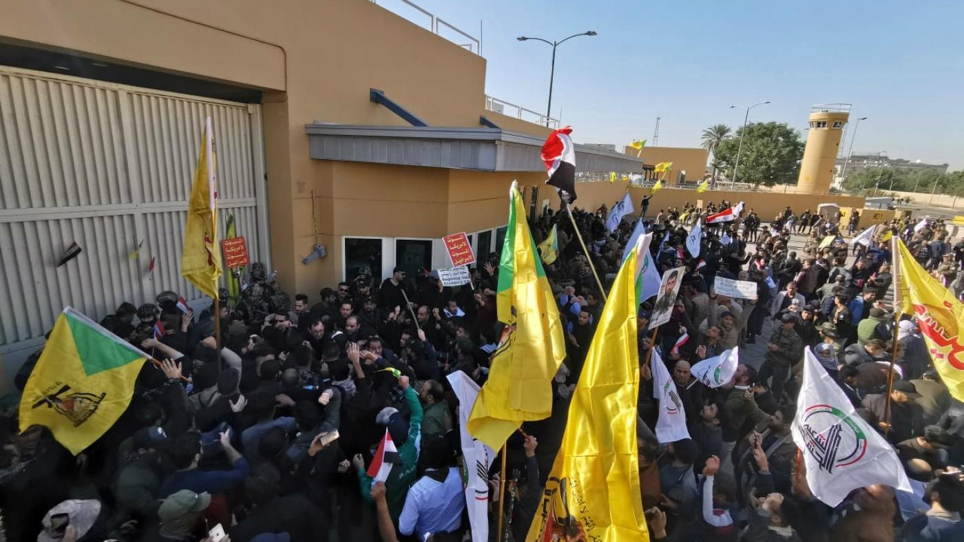 Angry Iraq Protesters Attack US Embassy