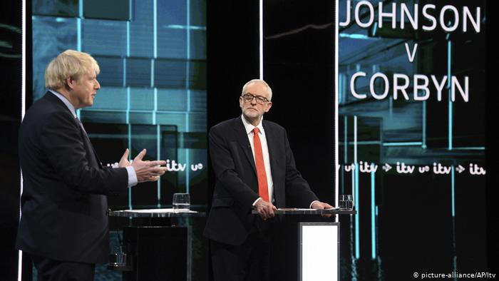 Boris Johnson and Jeremy Corbyn face-off in the final TV debate in the run-up to the general election