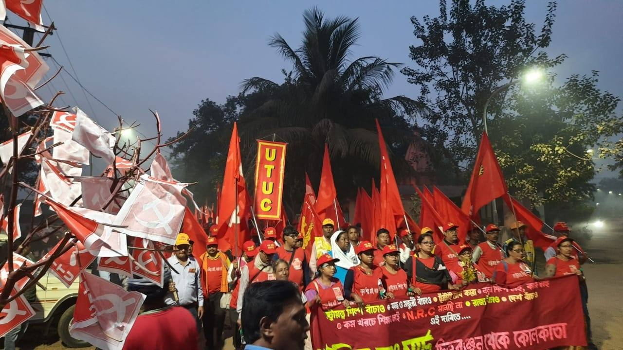 West Bengal Workers March 283 km