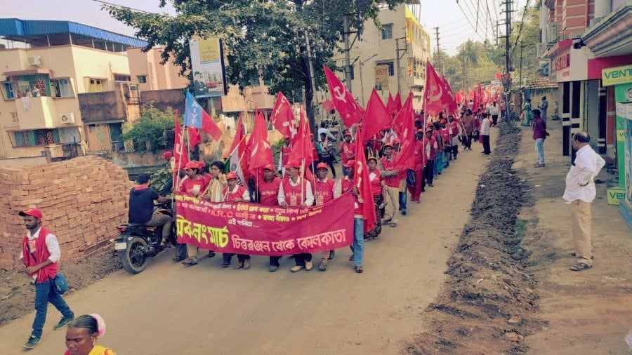 Workers' Long March in West Bengal Enters Day 10