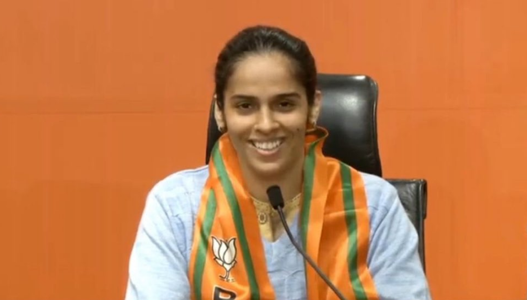 Saina Nehwal joined the BJP on January 29.