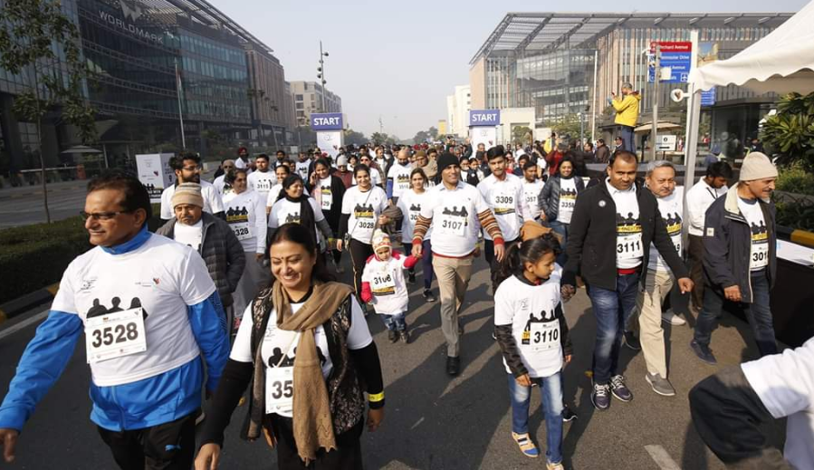 Participants at The Sneh Lata Walk With Your Parents in New Delhi