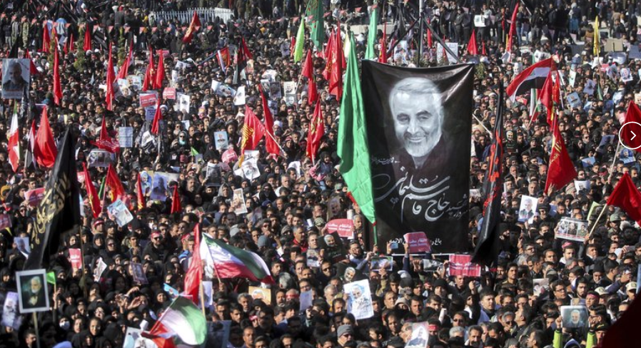 Stampede Kills 32 as Massive Crowd Gathers in Tehran for Funeral of Soleimani