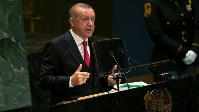 Turkey President Recep Tayyip Erdogan at the UN General Assembly meeting in New York