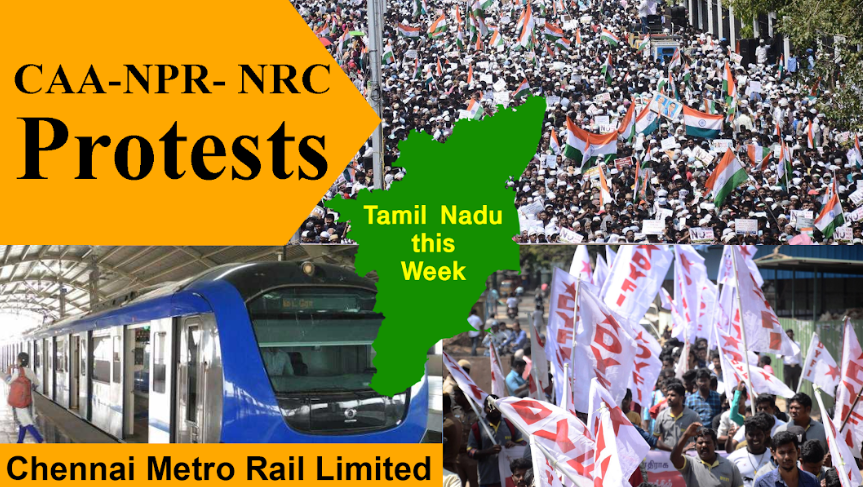 TN this Week: Massive Rally Opposing CAA, Metro Workers and Rubber Plantation Workers Protest for Rights